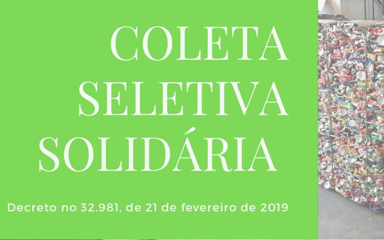 SEMA abre seleção de cooperativas e associações de catadores para a Coleta Seletiva Solidária