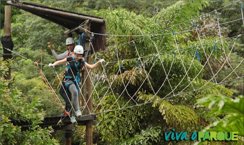Arvorismo no sábado no Cocó abre a programação do Viva o Parque