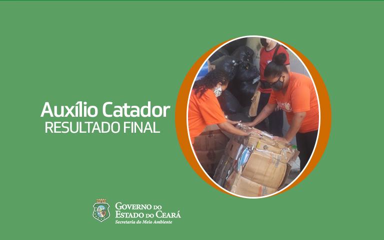 Auxílio Catador tem 93 vagas suplementares preenchidas, num total de 1.342 beneficiados
